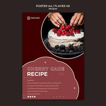 Modello di poster di ricette di dessert