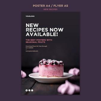 Modello di poster di ricette dolci