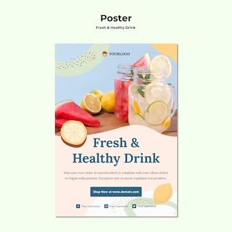 Modello di poster di succo di frutta