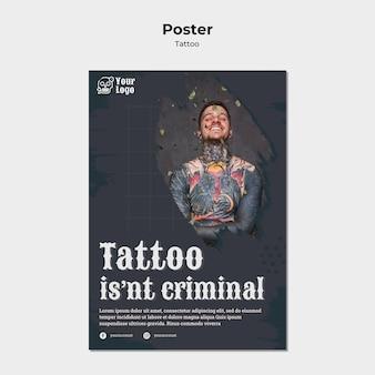 Modello di poster di tatuatore