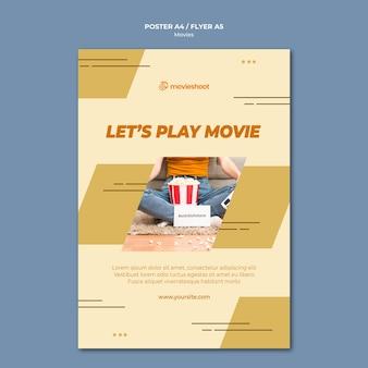 Modello di poster di tempo di film