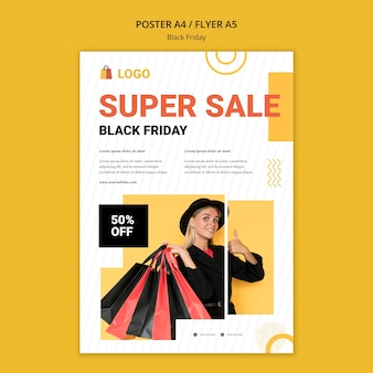 Modello di poster di vendita del black friday
