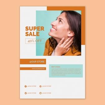 Modello di poster di vendita