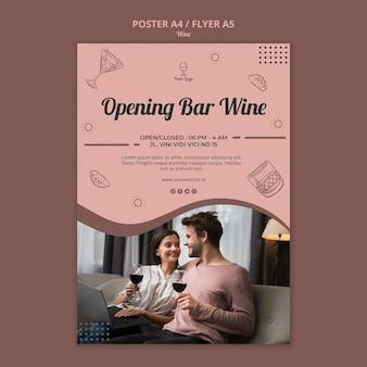 Modello di poster di vino
