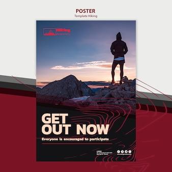 Modello di poster escursionismo