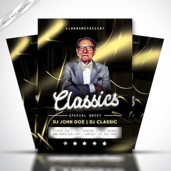 Modello di poster o flyer concerto classico