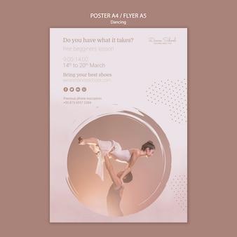 Modello di poster per artisti di danza