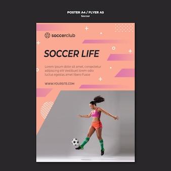 Modello di poster per calciatore