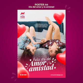 Modello di poster per la celebrazione di san valentino