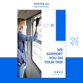 Modello di poster per la prenotazione del viaggio
