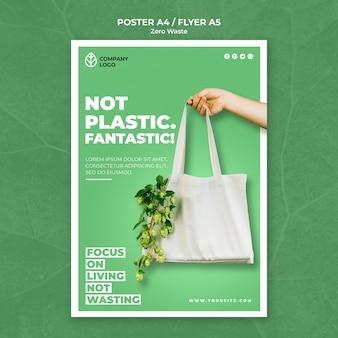 Modello di poster per zero rifiuti