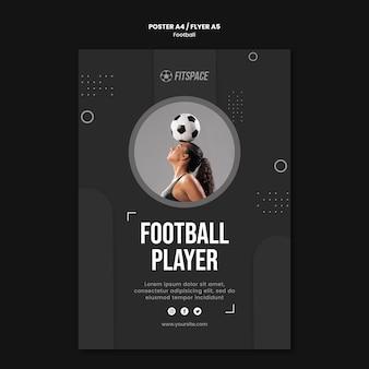 Modello di poster pubblicitario di calcio