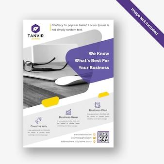 Modello di progettazione flyer aziendale moderna psd
