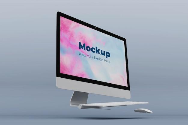 Modello di progettazione mockup schermo desktop mobile