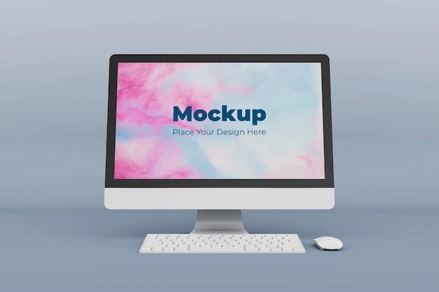 Modello di progettazione mockup schermo desktop realistico