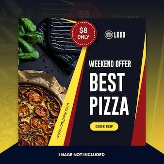 Modello di ristorante di social media cibo instagram post
