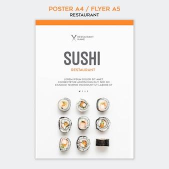 Modello di ristorante di sushi