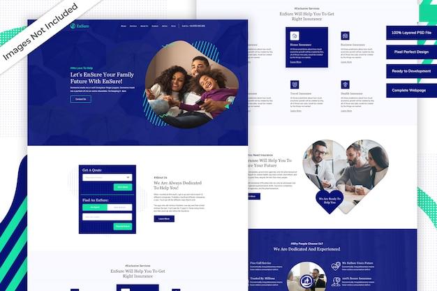 Modello di sito web aziendale