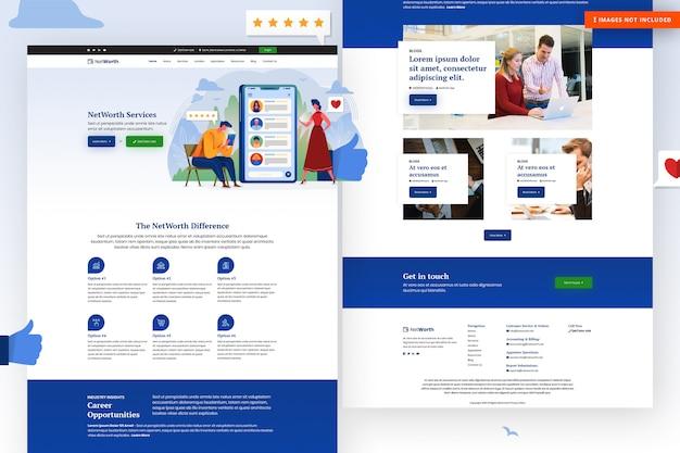 Modello di sito web del patrimonio netto