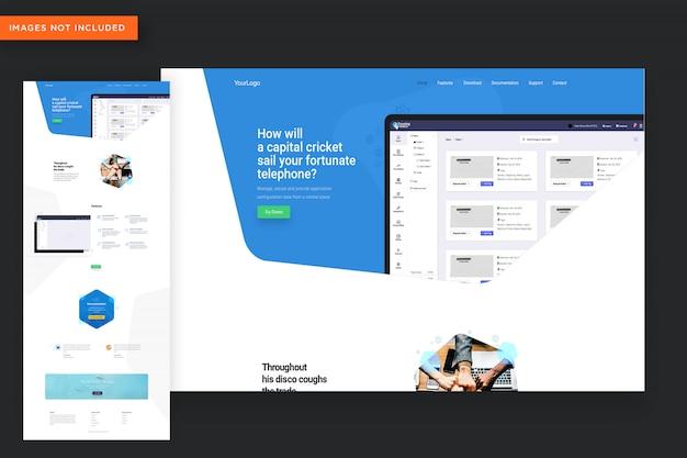 Modello di sito web dell'app