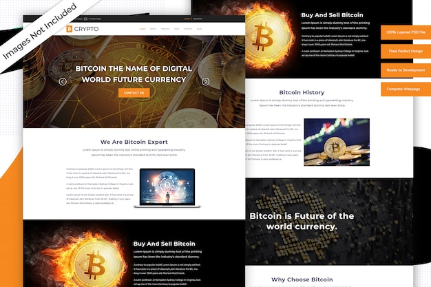 Modello di sito web di criptovaluta
