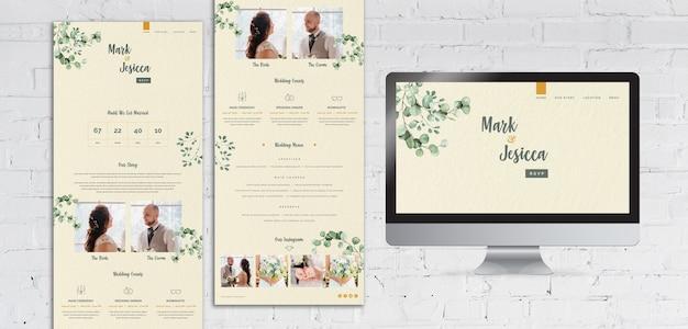 Modello di sito web di nozze