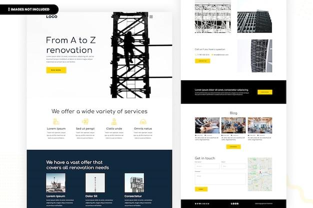 Modello di sito web di ristrutturazione