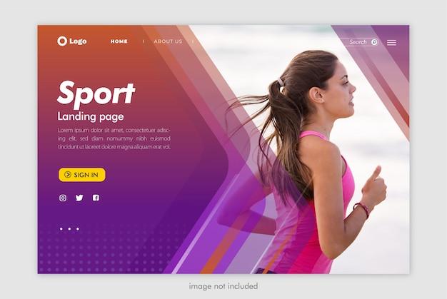 Modello di sito web sport landing page