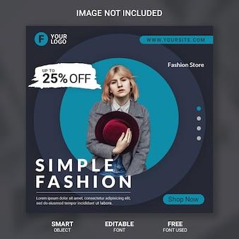 Modello di social media di vendita di moda