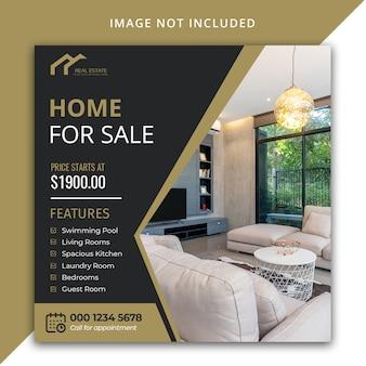 Modello di social media immobiliare di lusso