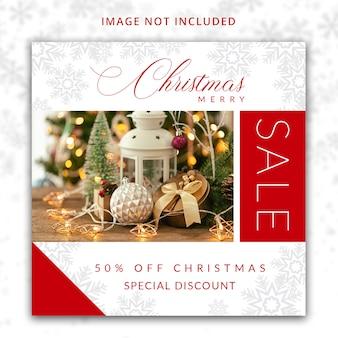 Modello di social media merry christmas