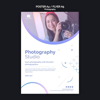 Modello di stampa poster per corsi di fotografia