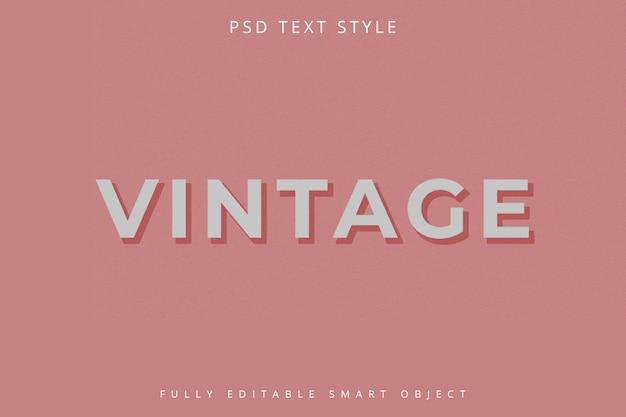 Modello di stile di testo vintage
