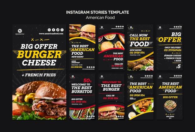 Modello di storie di instagram alimentari