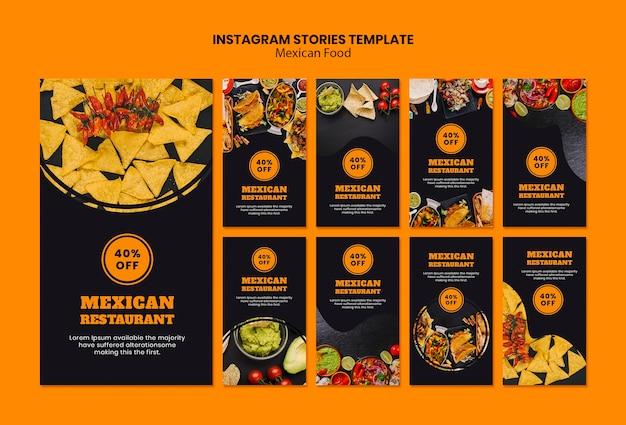Modello di storie di instagram cibo messicano