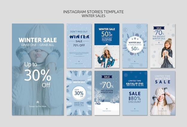 Modello di storie di instagram con vendita