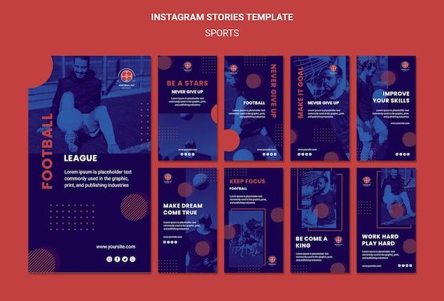 Modello di storie di instagram del giocatore di football americano