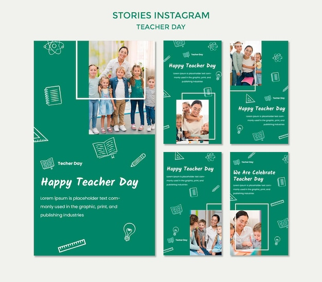 Modello di storie di instagram del giorno dell'insegnante