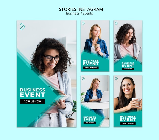 Modello di storie di instagram di affari