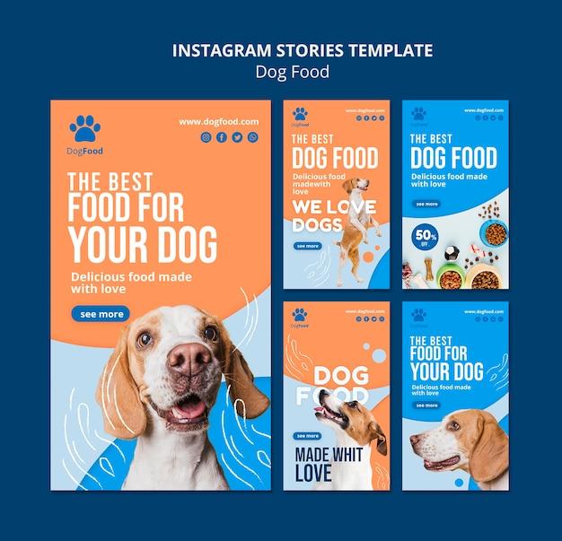 Modello di storie di instagram di cibo per cani