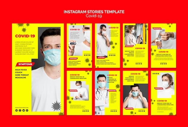 Modello di storie di instagram di coronavirus