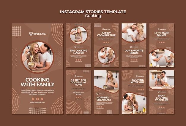 Modello di storie di instagram di cucina a casa