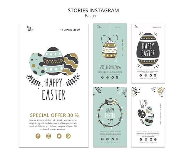 Modello di storie di instagram di pasqua
