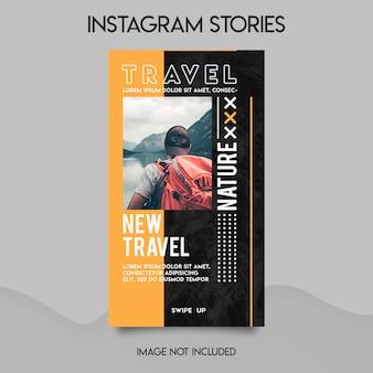 Modello di storie di instagram di viaggio