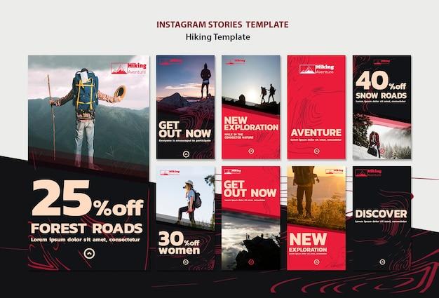 Modello di storie di instagram escursionismo