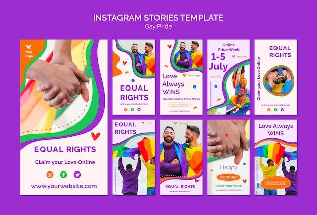 Modello di storie di instagram gay pride