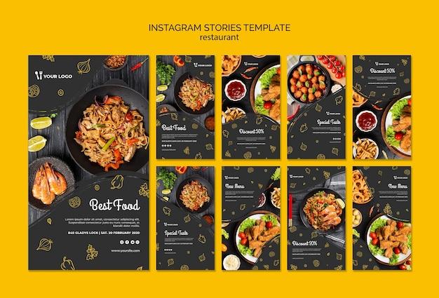 Modello di storie di instagram ristorante