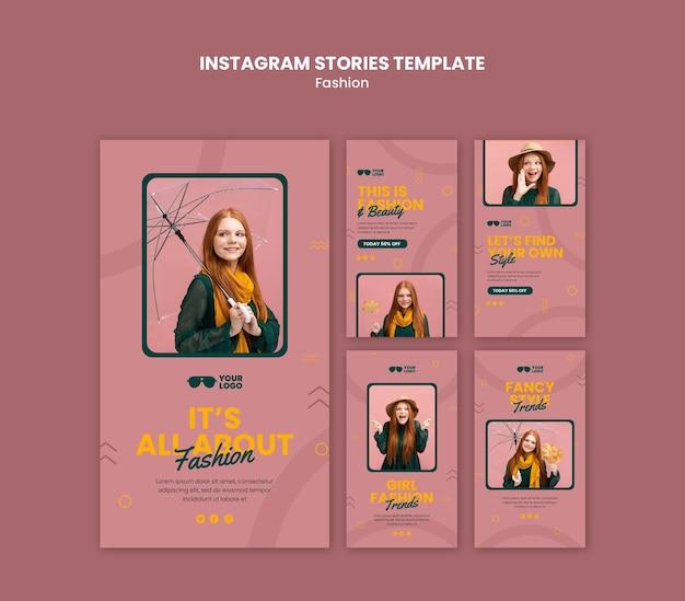 Modello di storie instagram azienda di moda