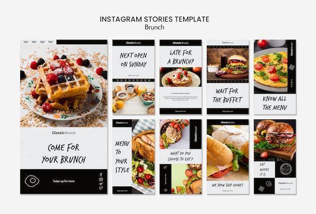 Modello di storie instagram di brunch