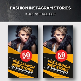 Modello di storie instagram di moda